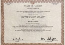 Kevin Shawn Wilson Notary Public Florida Commission